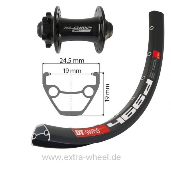 """Fahrrad Vorderrad V-Rad 27.5"""" Swiss D466 DISK"""