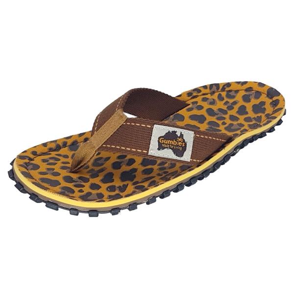 GUMBIES Zehenstegsandale Leopard