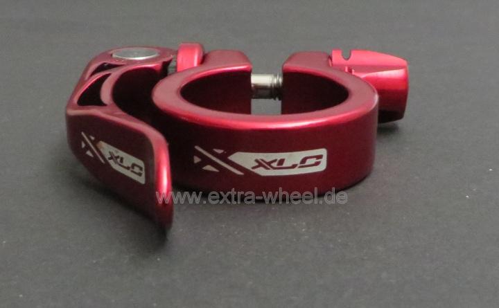 Sattelklemme Klemmring XLC 31,8 Rot eloxiert Aluminium mit Schnellspanner