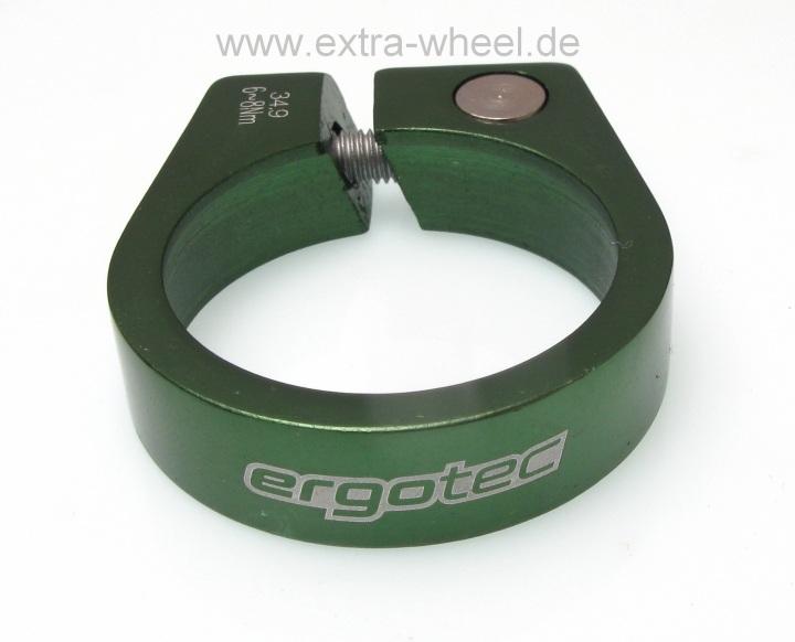 Sattelklemme - Klemmring ergotec 34,9 Grün eloxiert Aluminium