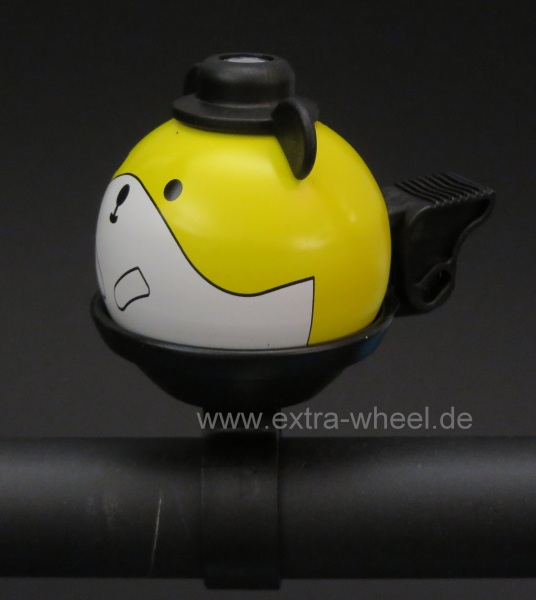 Fahrrad Klingel Kinder Hamster Gelb
