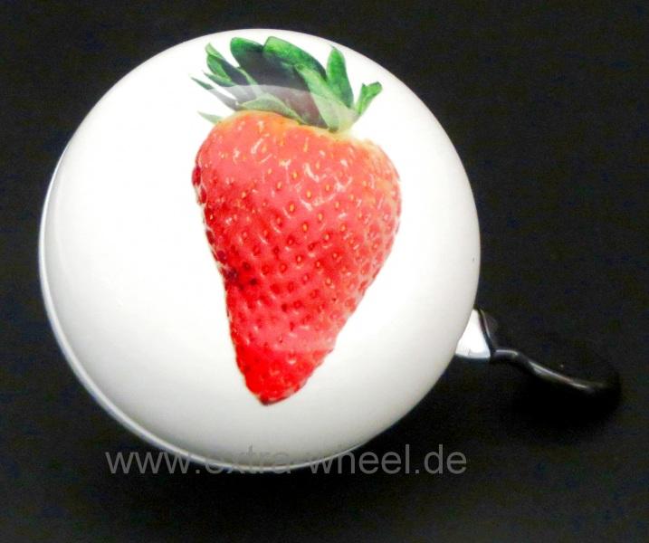 Klingel Ding Dong Glocke 80mm Erdbeere