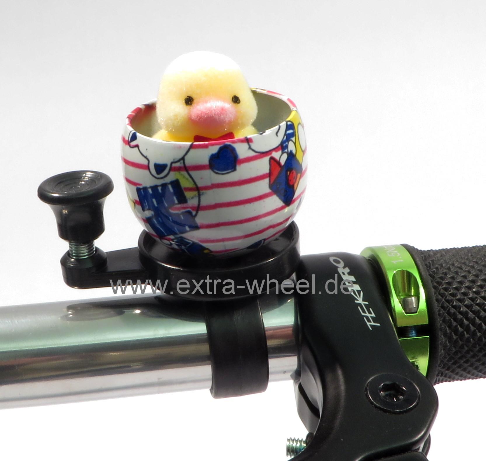 Fahrrad Glocke Klingel Kuscheltier Küken