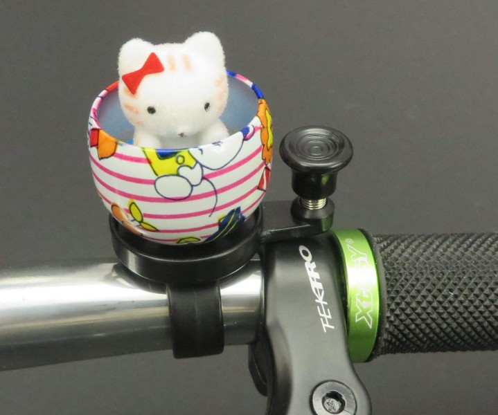 Fahrrad Klingel Kuscheltier Katze