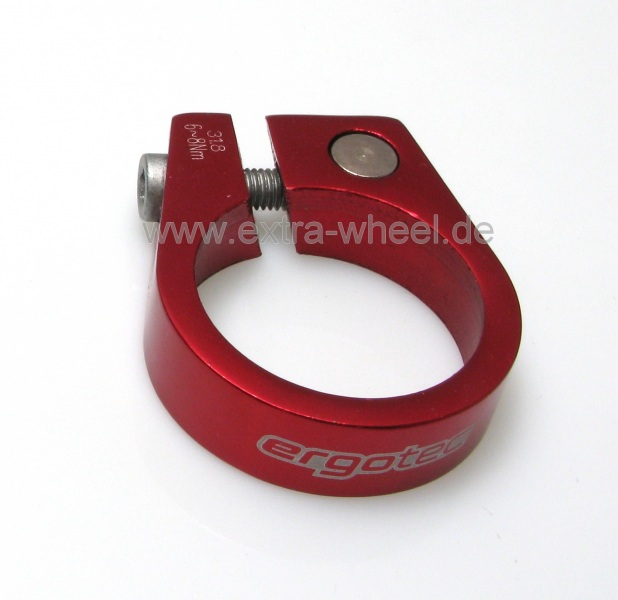 Sattelklemme - Klemmring ergotec XtasY 31,8 rot eloxiert Aluminium