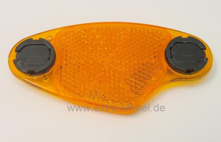 4 Strahler Gelb Reflektor Speichenstrahler mit Clip B&M