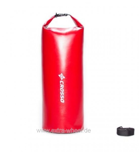 Crosso Seesack mit Tragegurt Wasserdicht Dry Bag 50 Red / Rot