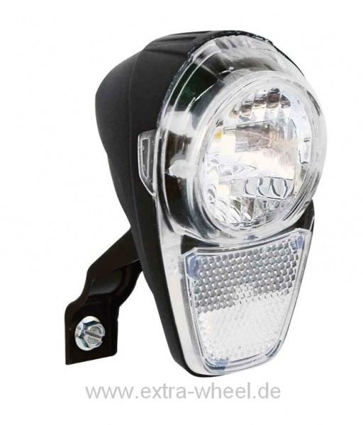Fahrrad LED-Scheinwerfer Büchel Dynamo LED ca.15 Lux,mit Halter u. Schalter