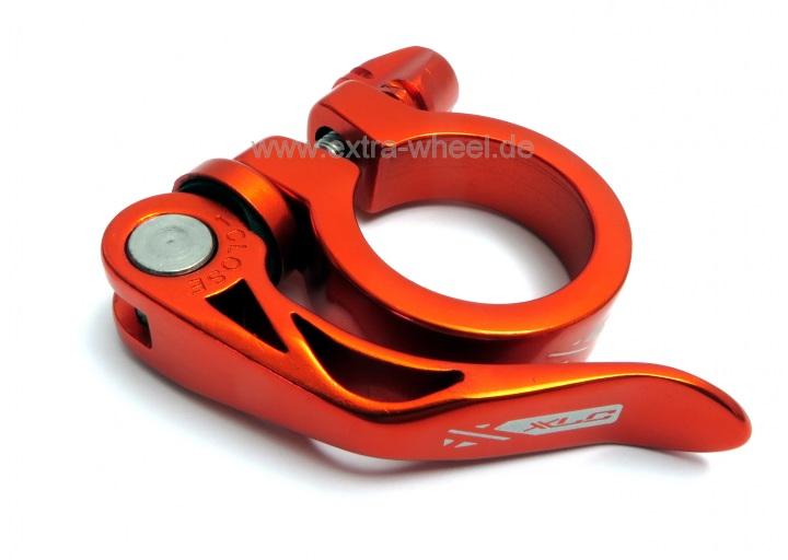 Sattelklemme Klemmring XLC 31,8 Orange eloxiert Alu mit Schnellspanner