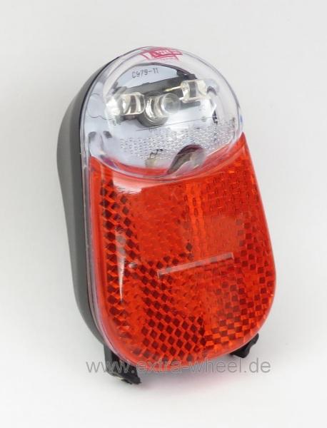 Fahrrad Rücklicht Schutzblech Messingschlager LED mit Standlicht