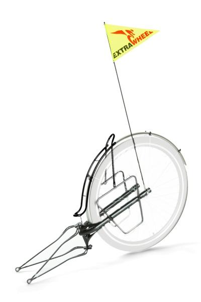 """Anhänger Extrawheel für bis 28"""" Fahrrad ohne Laufrad"""
