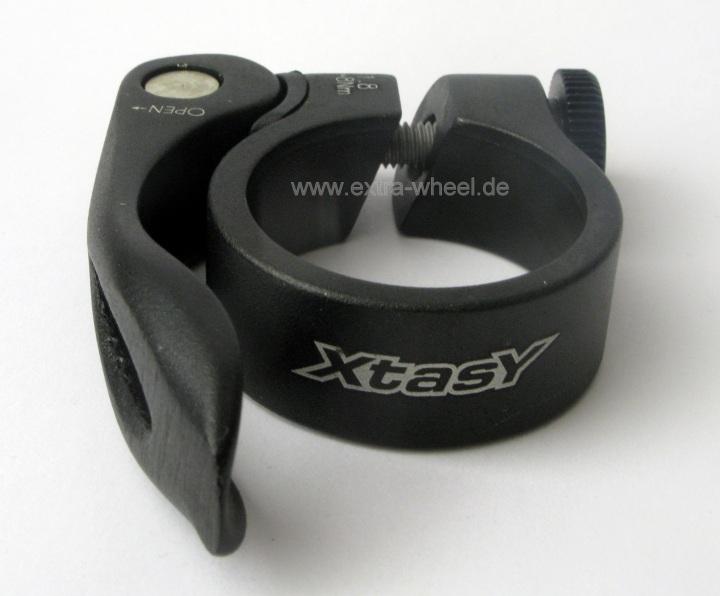 Sattelstützklemme 31,8mm Schwarz mit Schnellspanner XtasY