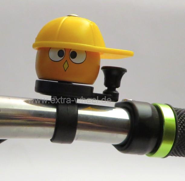 Fahrrad Klingel Kinder Bauarbeiter Gelb
