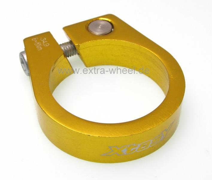 Sattelklemme - Klemmring ergotec XtasY 34,9 gold farbig eloxiert Aluminium