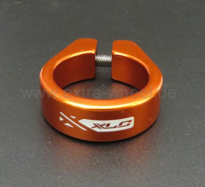 Sattelklemme - Klemmring XLC 34,9 Orange eloxiert Aluminium
