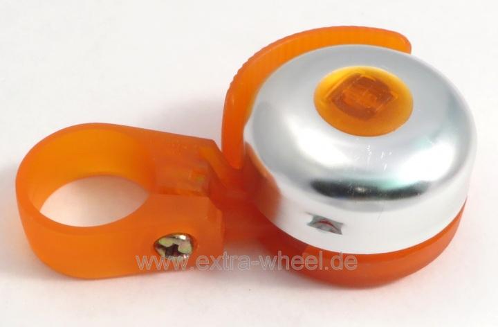 Fahrrad Glocke Klingel Rassel Orange