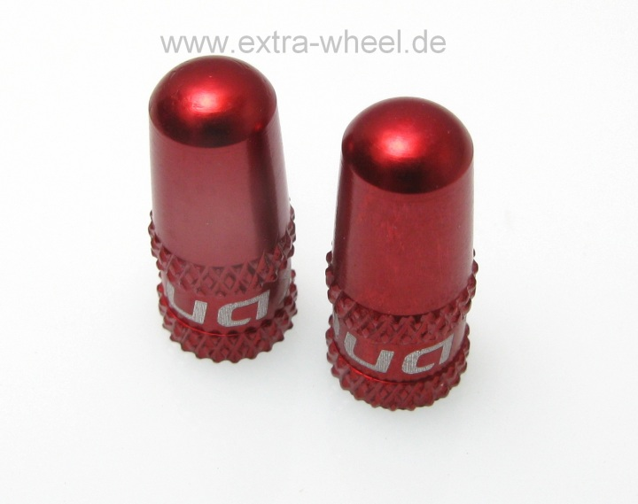 Ventilkappen Quaxar für SV-Ventil rot Alu eloxiert