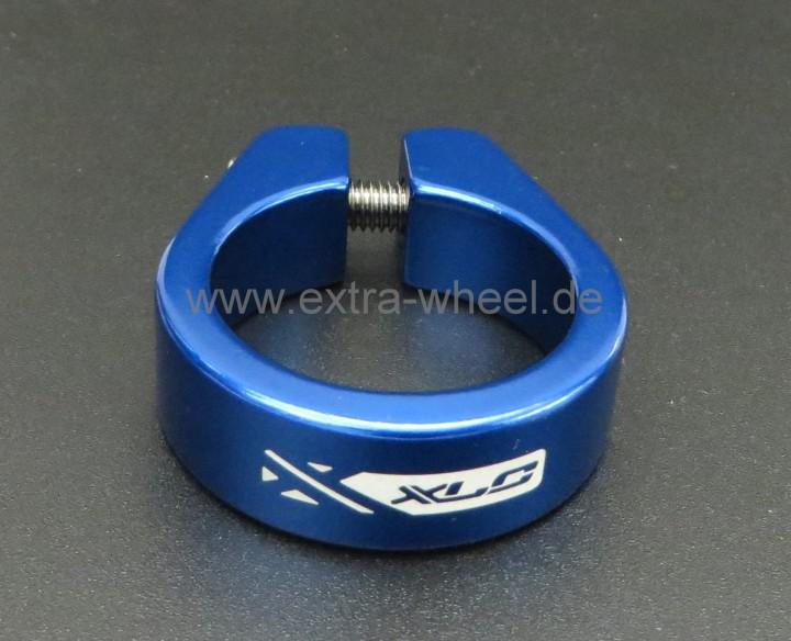 Sattelklemme - Klemmring XLC 34,9 Blau eloxiert Aluminium