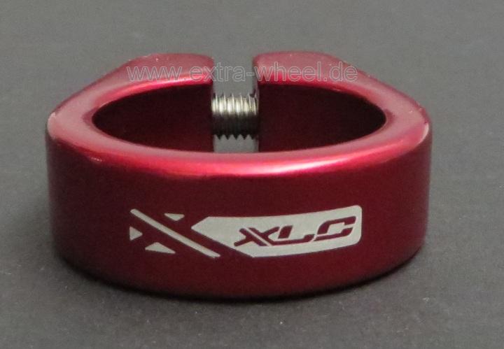 Sattelklemme Klemmring XLC 31,8 Rot eloxiert Aluminium