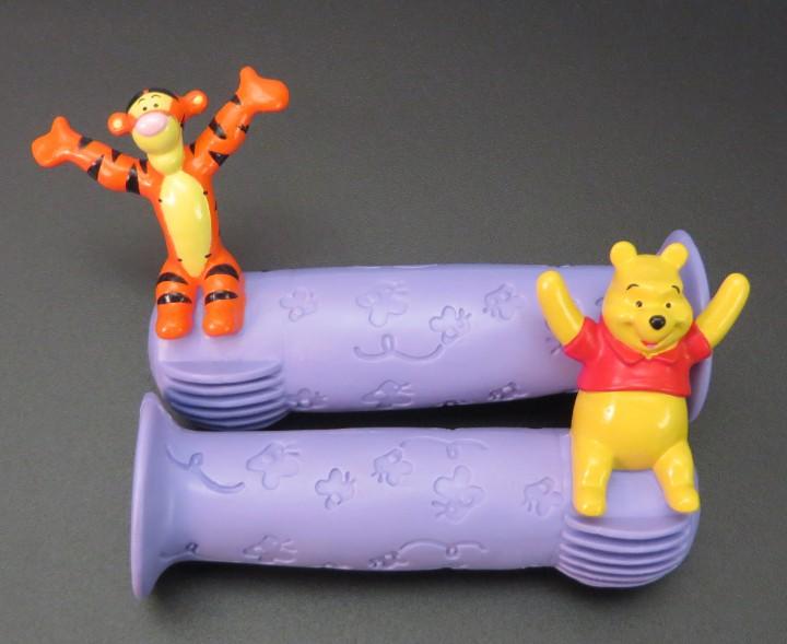 Kinder Fahrrad Griffe Disney Winnie the Pooh & Tigger Lila