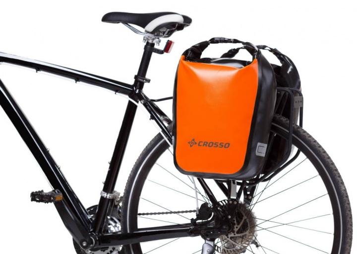 Fahrradtaschen CROSSO Dry click orange 30 Liter