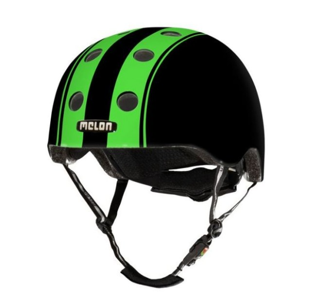 Fahrradhelm Melon - double green black